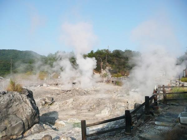 長崎県雲仙地獄地帯