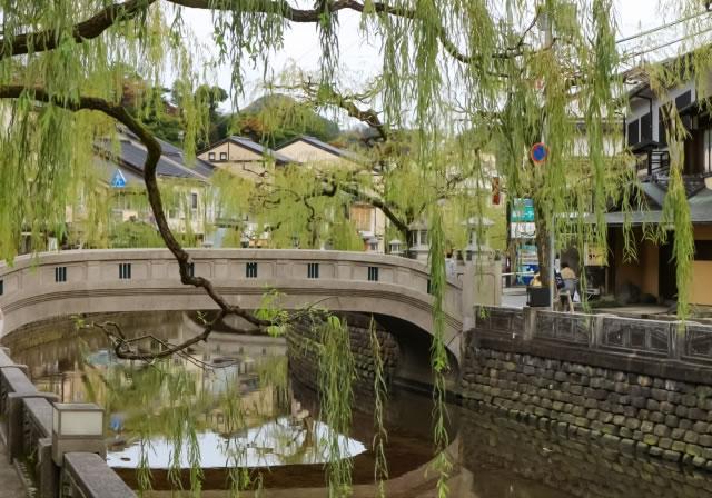 城崎の温泉街の風景