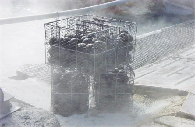 箱根湯本温泉黒卵