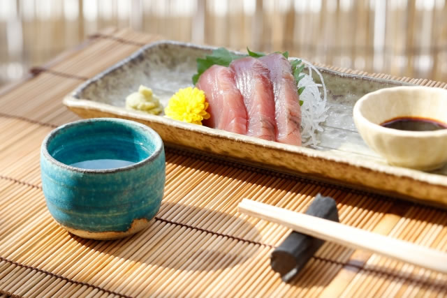 日本酒とお刺身